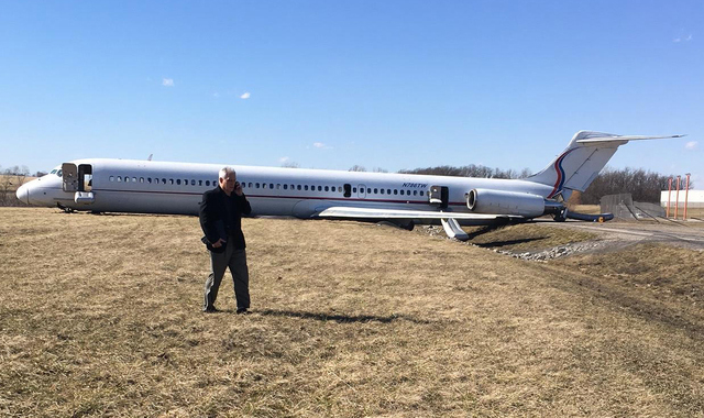 Plane Skidded off the Runway